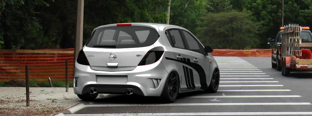 Corsa d 5 Door Spoiler Opel Corsa d Facelift 5 Door