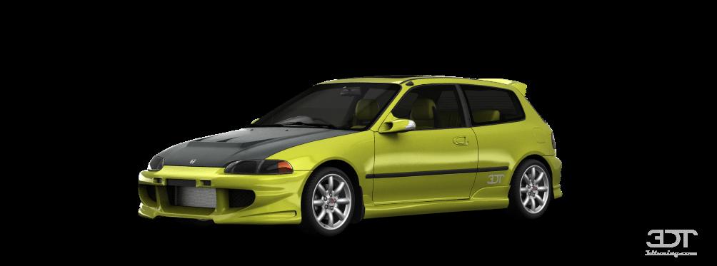 Honda Civic 3 Door Hatchback 1992 tuning