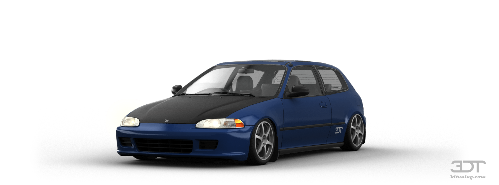 3dtuning of honda civic 3 door hatchback 1992 for 03 honda civic 2 door