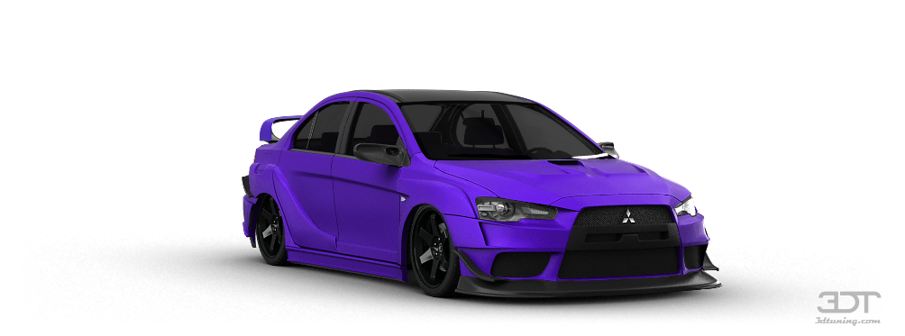 mitsubishi lancer evo sedan 2007 tuning