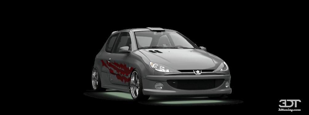 3dtuning of peugeot 206 3 door hatchback 1998 3dtuning