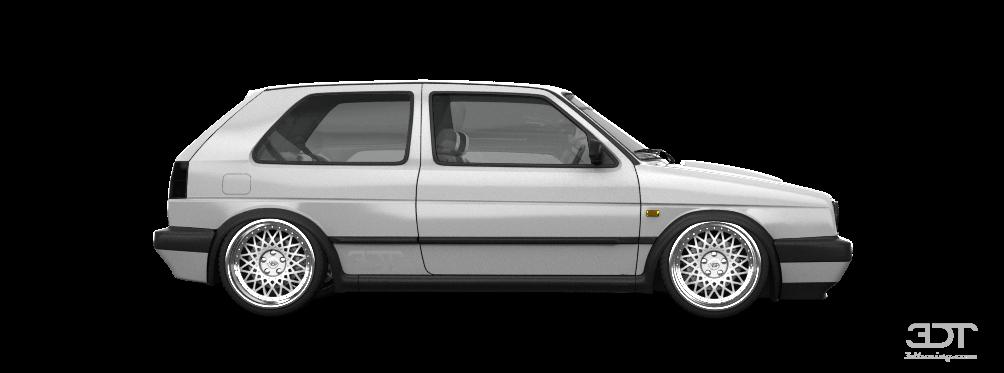 ... color, partial painting of Volkswagen Golf 2 Gti 3 Door Hatchback 1990