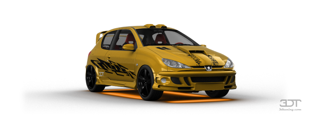 Peugeot 206 3 Door Hatchback 1998 tuning