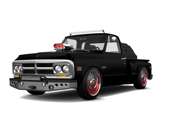 GMC K1500 2 Door pickup truck 1971 tuning