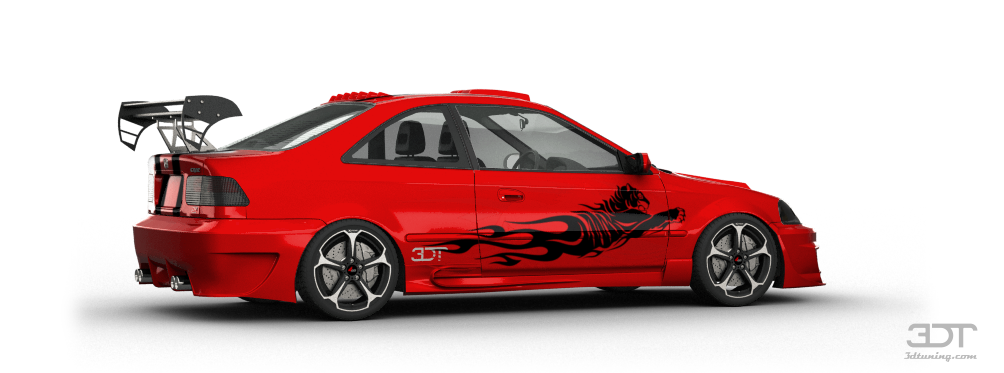 3dtuning Of Honda Civic Si Coupe 1999 3dtuning Com