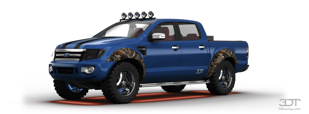 Light Truck Wheels 3DTuning of Ford Ranger Truck 2012 3DTuning.com - unique ...