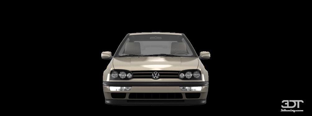 color partial painting of Volkswagen Golf 3 3 Door Hatchback 1991