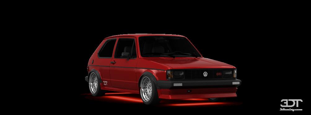 Volkswagen Rabbit GTI Mk1 3 Door Hatchback 1984 tuning