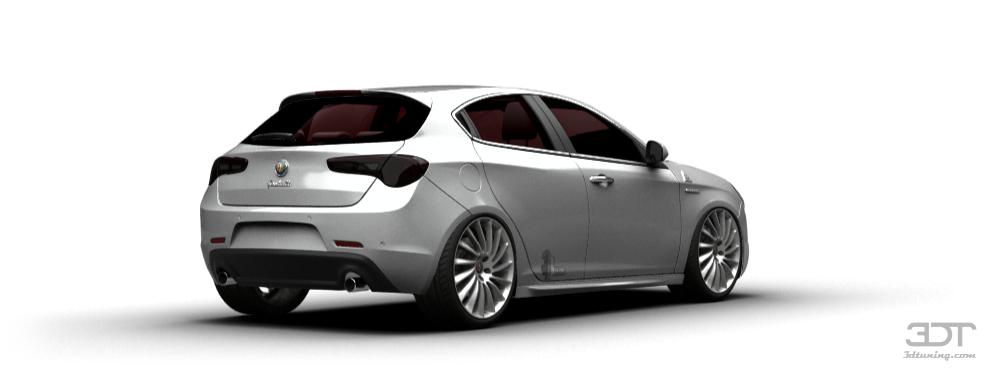 Alfa romeo white car 15