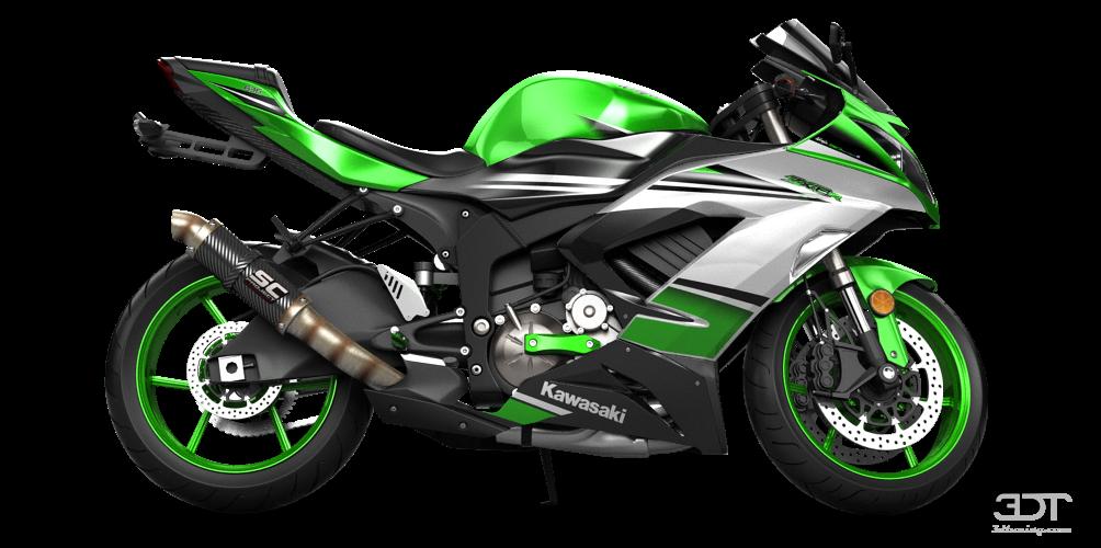Kawasaki Ninja ZX 6R Sport Bike 2015 tuning